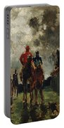 Henri De Toulouse Lautrec Portable Battery Charger by The Jockeys