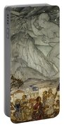 Hercules Supporting The Sky Instead Of Atlas Portable Battery Charger by Arthur Rackham
