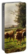 Herd Of Cows Portable Battery Charger