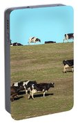 Herd Of Cows Grazing On A Hill, Point Portable Battery Charger