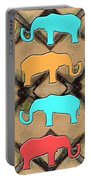 Herd Of Elephants Portable Battery Charger by Patrick J Murphy