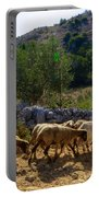 Herd Of Sheep In Tuscany Portable Battery Charger