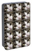 Here Kitty Kitty Close Up 25 Portable Battery Charger