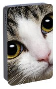 Here Kitty Kitty Close Up Portable Battery Charger
