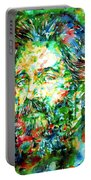 Herman Melville Watercolor Portrait Portable Battery Charger