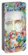 Herman Melville Watercolor Portrait.1 Portable Battery Charger