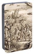 Heron Hawking, Engraved By Wenceslaus Portable Battery Charger