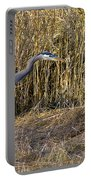 Heron In The Grass Portable Battery Charger