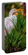 Heron In The Pines Portable Battery Charger