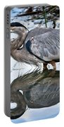 Heron Reflecting Portable Battery Charger