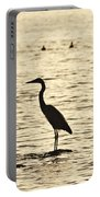 Heron Standing In Water Portable Battery Charger