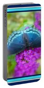 Hi Hello Greeting Card - Red Spotted Purple Butterfly Portable Battery Charger