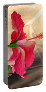 Hibiscus Along The Walk Way Portable Battery Charger