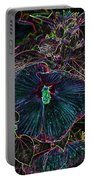Hibiscus At Midnight Portable Battery Charger