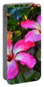 Hibiscus Flowers Portable Battery Charger