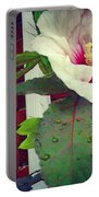 Hibiscus Flower In Bloom Portable Battery Charger