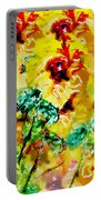 Hibiscus Impressionist Portable Battery Charger