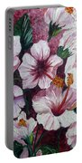Hibiscus Pink 3  Portable Battery Charger