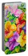 Hibiscus Rainbow Array Portable Battery Charger