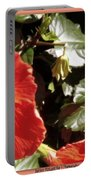 Hibiscus Red Portable Battery Charger