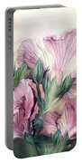 Hibiscus Sky - Pastel Pink Tones Portable Battery Charger