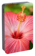 Hibiscus - Square Portable Battery Charger