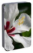 Hibiscus White Wings Portable Battery Charger