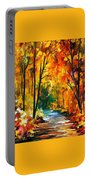 Hidden Emotions - Palette Knife Oil Painting On Canvas By Leonid Afremov Portable Battery Charger