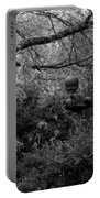 Hidden Garden In Black And White Portable Battery Charger