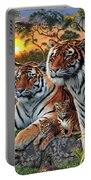 Hidden Images - Tigers Portable Battery Charger by Steve Read