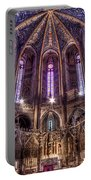 High Altar And Stained Glass Windows  Portable Battery Charger