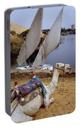 High Angle View Of A Camel Resting Portable Battery Charger