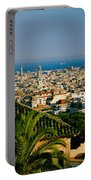 High Angle View Of A City, Barcelona Portable Battery Charger