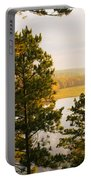 High Angle View Of A River, Ausable Portable Battery Charger