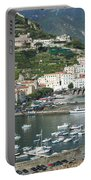 High Angle View Of A Town, Amalfi Portable Battery Charger