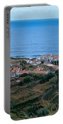 High Angle View Of Houses At A Coast Portable Battery Charger