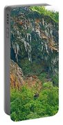 High Cliffs Along River Kwai In Kanchanaburi-thailand Portable Battery Charger