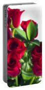 High Key Red Roses Portable Battery Charger