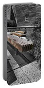 High Line Benches Black And White Portable Battery Charger