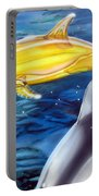 High Tech Dolphins Portable Battery Charger by Thomas J Herring