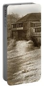High Tide And Big Waves At Lovers Point Beach Pacific Grove California Circa 1907 Portable Battery Charger