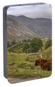 Highland Cow In Scotland Portable Battery Charger