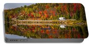 Highway Through Fall Forest Portable Battery Charger