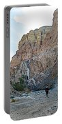 Hiker In Big Painted Canyons Trail In Mecca Hills-ca Portable Battery Charger