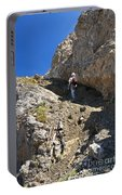 hiker in Dolomites Portable Battery Charger