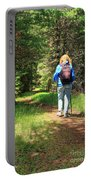 Hiker In The Forest Portable Battery Charger