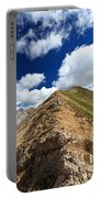 Hiker On Mountain Ridge Portable Battery Charger