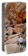 Hikers Enter Ladder Canyon From Big Painted Canyons Trail In Mecca Hills-ca  Portable Battery Charger