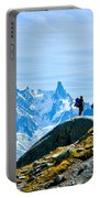 Hiking Above Chamonix On The Lac Blanc Trail Portable Battery Charger