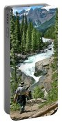 Hiking In Mistaya Canyon Along Icefield Parkway In Alberta Portable Battery Charger